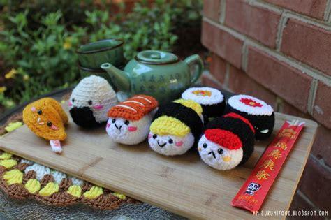 cuisine sushi amigurumi food sushi amigurumi food