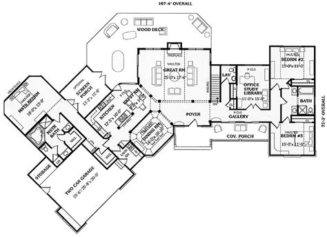 ranch floor plans with split bedrooms angled split bedroom ranch 3866ja 1st floor master