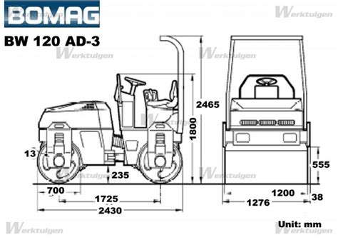 bomag bw ad  bomag machinery specifications