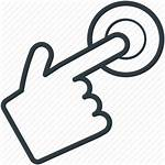 Finger Icon Pointing Touch Icons Pressing Vector