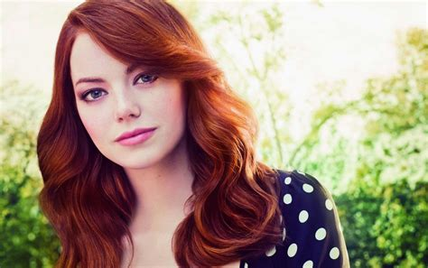 Emma Stone Red Hair Close Up Wallpapers Emma Stone Red