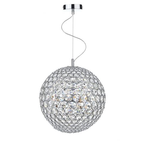 chrome glass globe ceiling pendant great