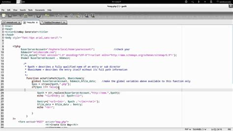 Write Php Site Map Generator Youtube