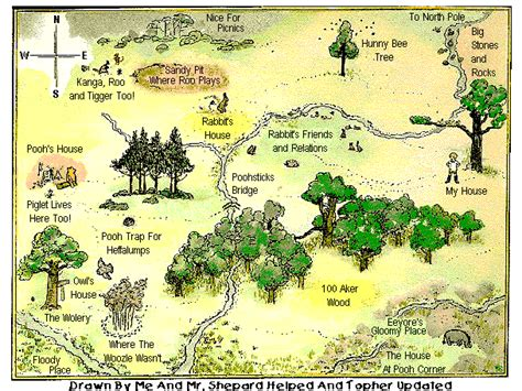 Topher's Revised Map Of The 100 Aker Woods