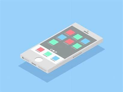 Flat Isometric Iphone Animation 5s Smartphones Dribbble