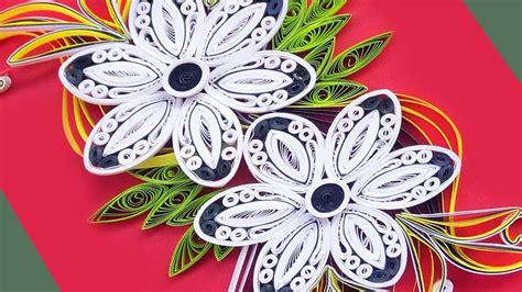 paper art    beautiful quilling flowers design
