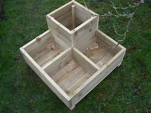 Tanalised wood garden planters bogglewood and stones for Wooden garden planters