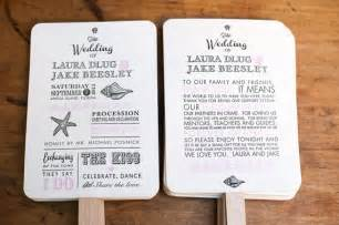 wedding program fan kit destination wedding program
