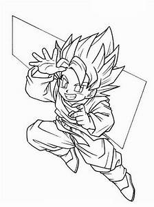 Free coloring pages of trunks y goten