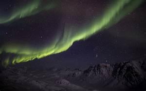 Aurora Borealis Northern Lights Night Green Stars sky ...