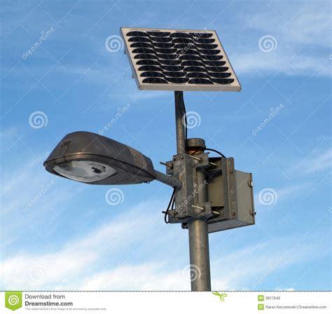 solar powered l post solar powered l post stock photo image 3917640