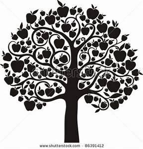 Oak Tree Black White Clipart