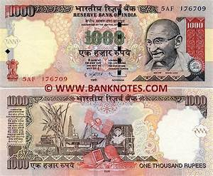 India 1000 Rupees 2006-2010 - Indian Currency Bank Notes ...
