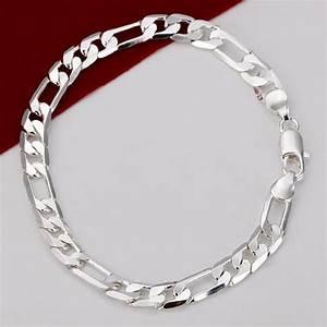 Mens Silver Bracelet 925 Italy