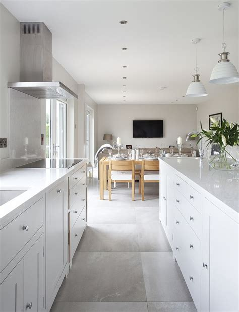 Brilliant White Kitchen Units With Grey Worktop Granite