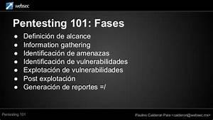 Pentesting 101 Por Paulino Calderon