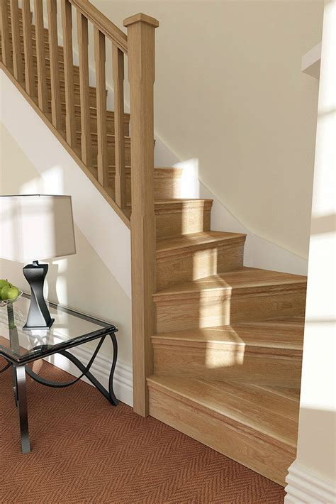 oak step solid oak stair cladding convert your staircase 12 step ebay