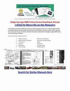 2000 Dodge Durango Owners Manual Pdf  U0026gt  Dobraemerytura Org