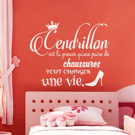 sticker citation chambre sticker citation cendrillon stickers chambre ado fille