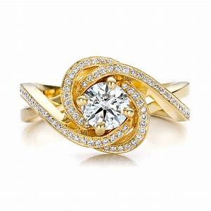 custom yellow gold and diamond engagement ring 100433 With yellow diamond wedding rings