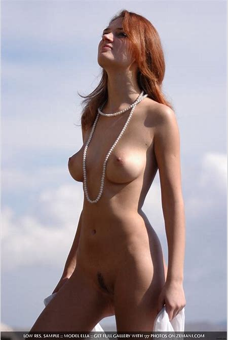 Redhead Ella at a Nude Beach
