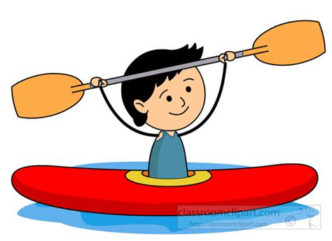 Rafting Boat Clipart by Water Sports Clipart Boy River Rafting Holding Paddle