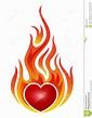 Brennendes Herz Stockbilder - Bild: 32278974