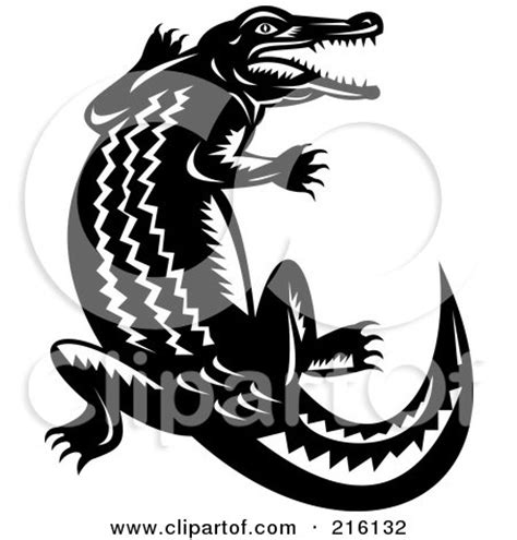 royalty free rf clipart illustration of a snapping crocodile logo by patrimonio 104556