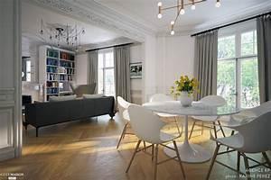 appartement haussmannien a montmartre agence kp cote maison With wonderful photo de jardin de maison 19 deco entree appartement
