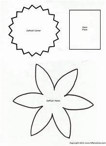 daffodil petal template daffodil petals pattern seasons With template of a daffodil
