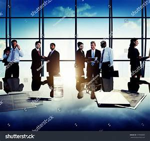 Business People Corporate Team Discussion Meeting Stock ...