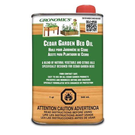 gronomics cedar garden bed oil  quart yard outlet