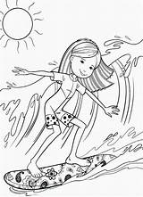 Surfing Coloring Surf Coloriage Groovy Surfer Sheets Colouring Sports Kid Barbie Dibujos Surfers Colorear Board Fille Books Ocean Beanie Boo sketch template