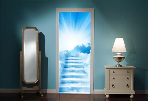 wall mural decals uk door mural stairway to heaven view wall stickers decal