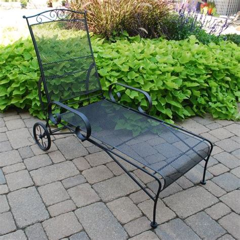 backyard creations wrought iron chaise lounge at menards 174