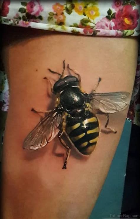 fabulous bee tattoos  thigh