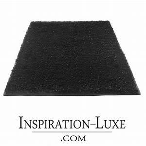 Tapis de salle de bain de luxe noir for Tapis salle de bain noir