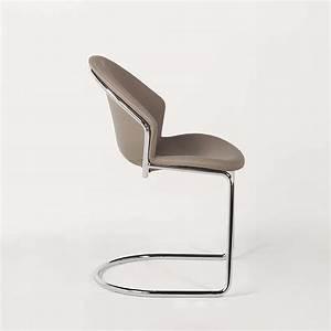 Chaise Pied Chromé : chaise design en m tal chrom et synth tique jazz 4 pieds tables chaises et tabourets ~ Teatrodelosmanantiales.com Idées de Décoration