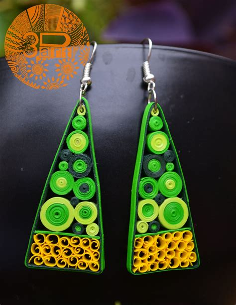 shway paper quilled earrings