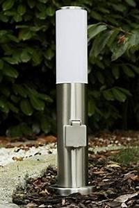 borne lumineuse avec prise electrique pour le jardin With borne electrique de jardin avec prise