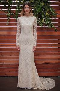 Classic lace wedding dress with long sleeve stretch for Stretch lace wedding dress