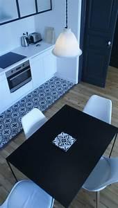 Faux Carreaux De Ciment : des carreaux de ciment dans la cuisine cocon d co ~ Premium-room.com Idées de Décoration