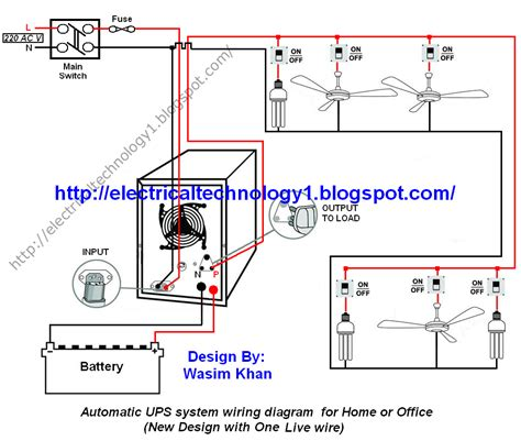 wiring diagram ups system automatic ups system wiring circuit diagram for home or
