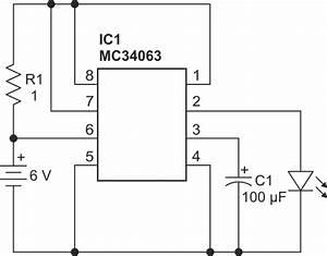 High Power Led Flashing Beacon Uses A Switching Regulator