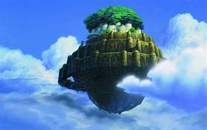 Miyazaki Wallpapers Floating Hayao Island Castle Laputa