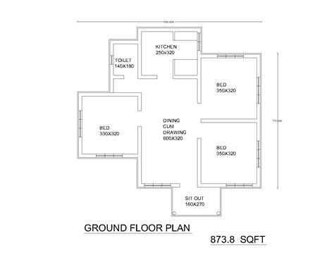 Single Floor House Plans Or By 2bhk Independent Single