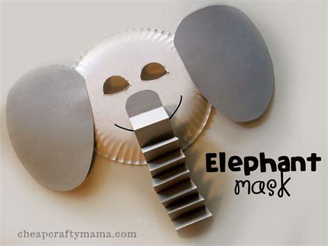 elephant elephant mask alphabet craft