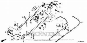 Honda Hrr216k5 Vkaa Lawn Mower  Usa  Vin  Mzcg