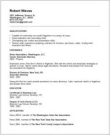 Lawyer Resume Template Resume Exles