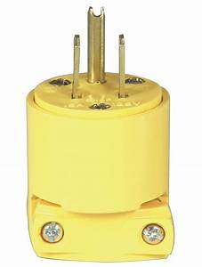 Cooper Wiring Bp4867 3 Wire Grounded Vinyl Plug Yellow